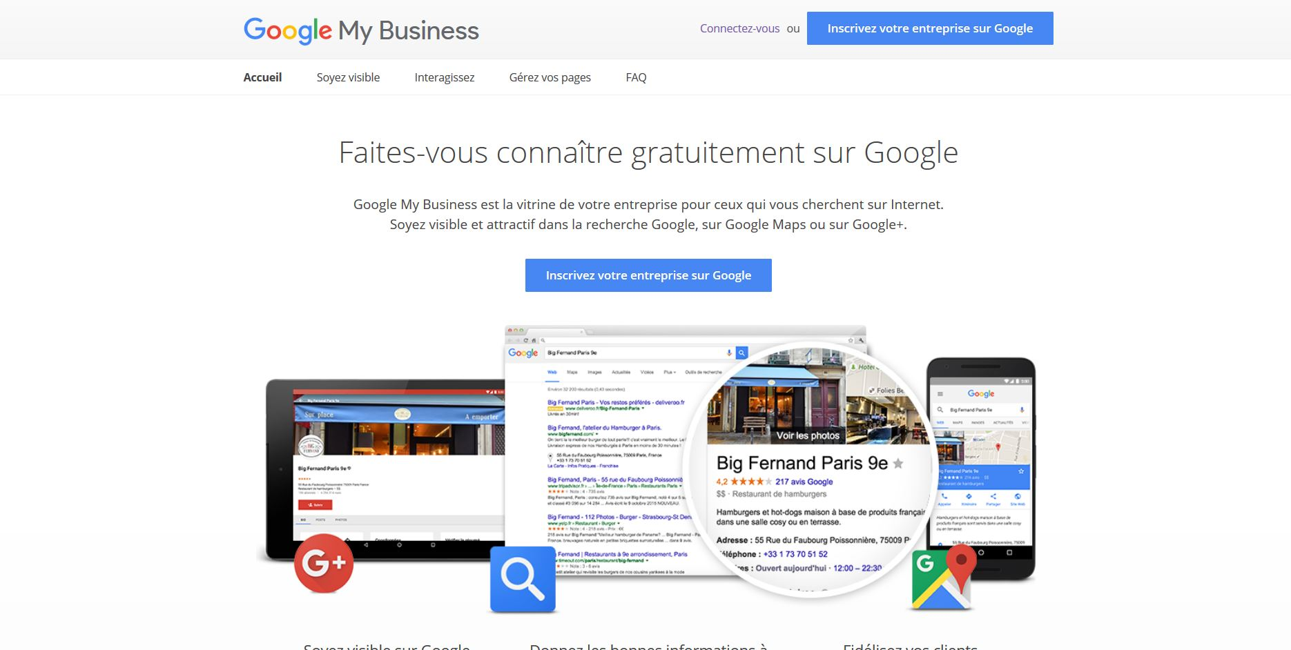 google my business pour référencement local de site internet sur maiens douai lens arras paris valenciennes lille reims